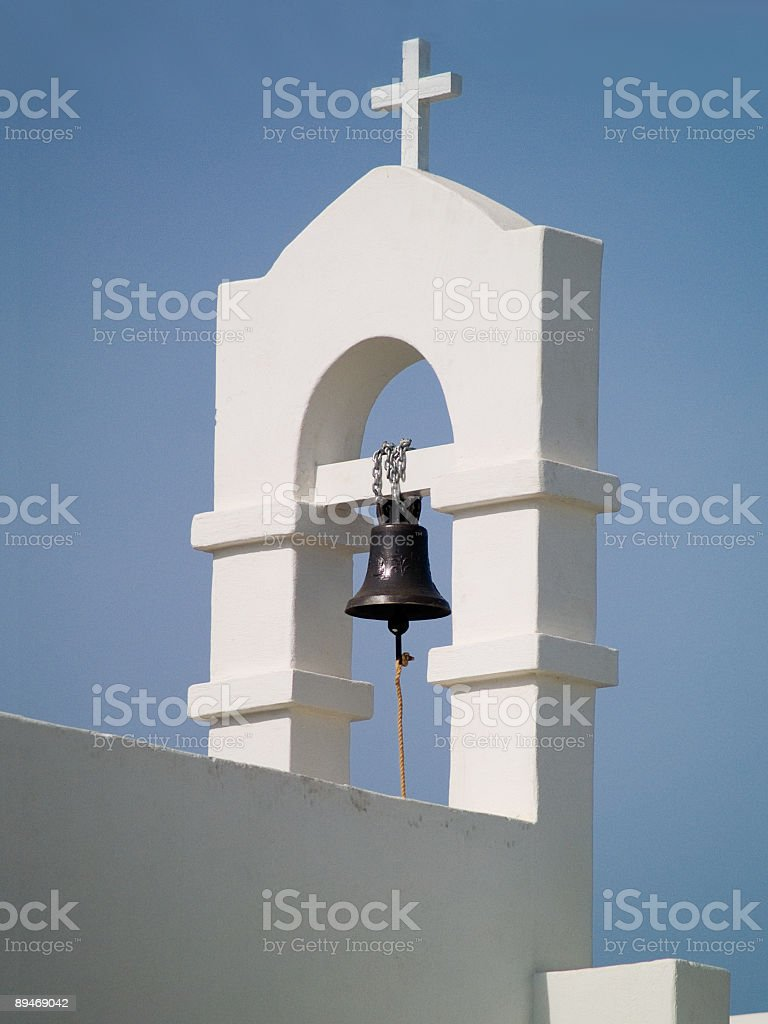 cross, tower bell royalty-free stock photo
