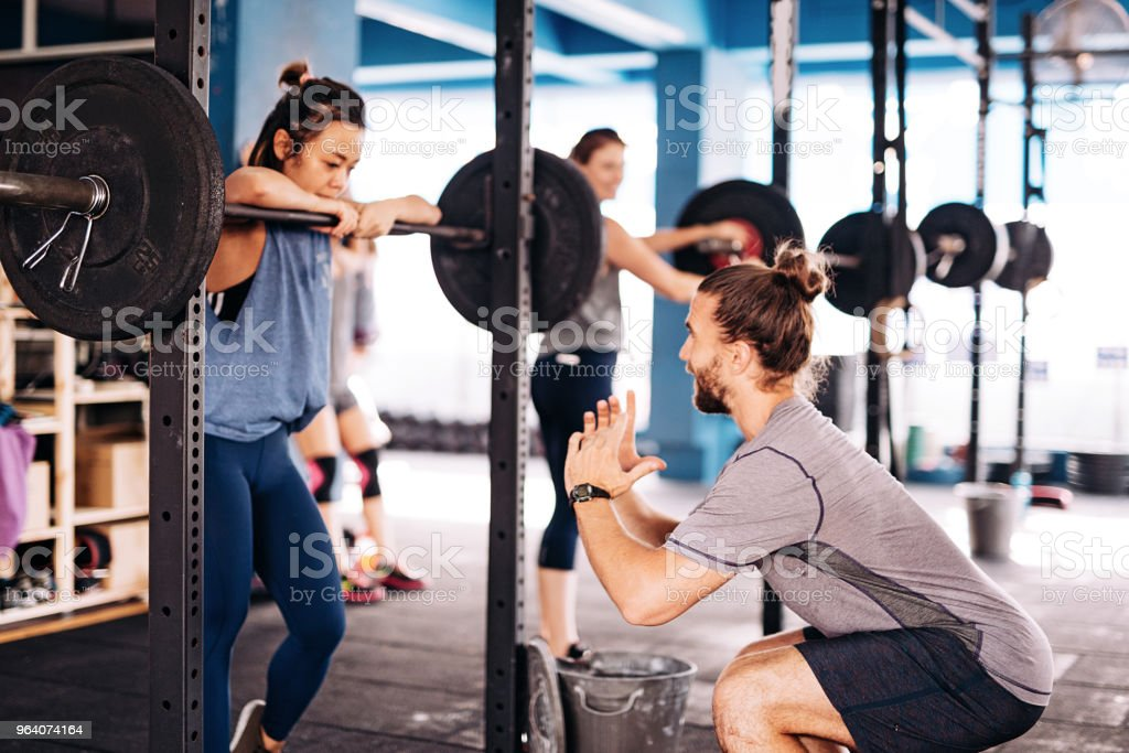 Cross training and weight lifting - Royalty-free 20-29 Years Stock Photo