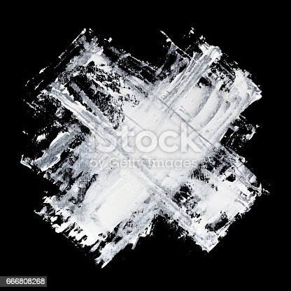 534130204istockphoto Cross - White brush strokes 666808268