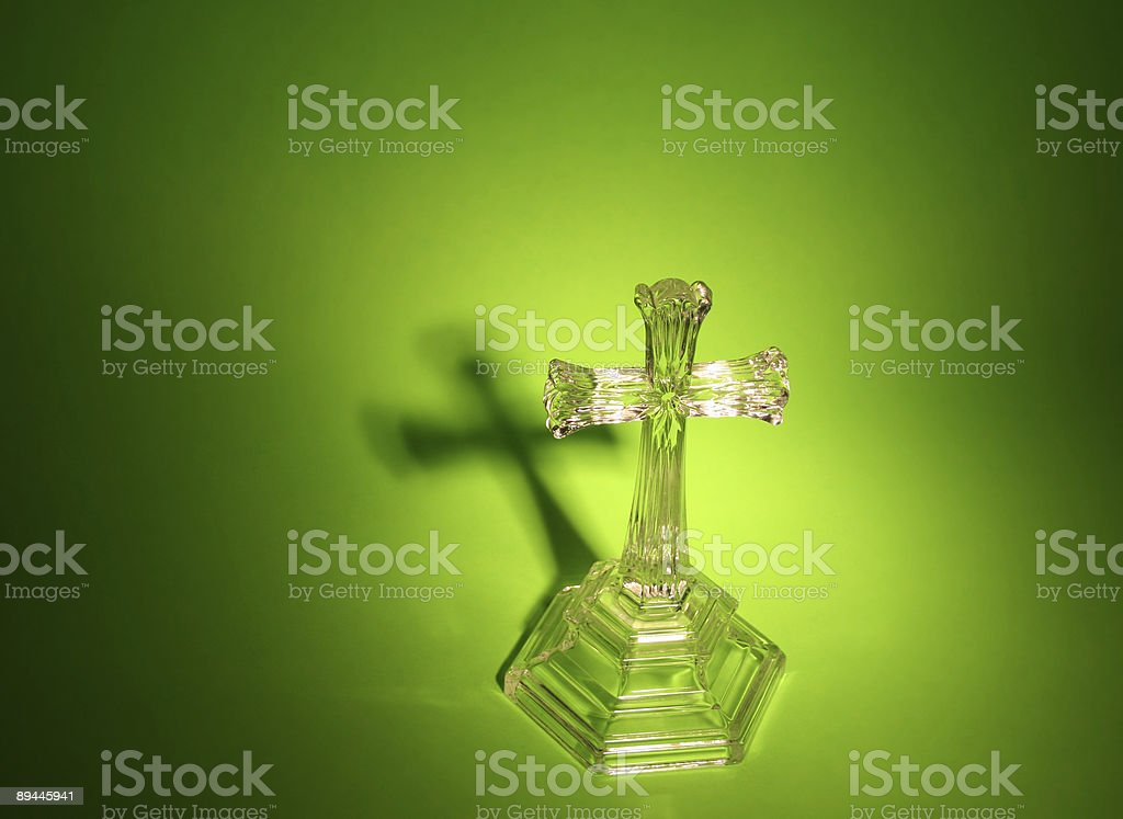 Cross with Shadow royalty-free stock photo