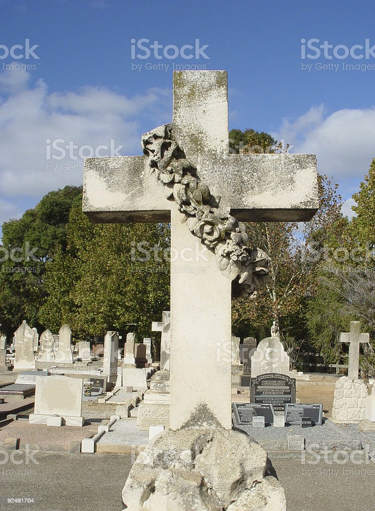 Cross with wreath royalty-free stock photo