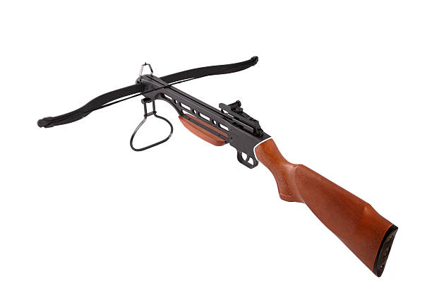 crossbow isolated on white - crossbow stock pictures, royalty-free photos & images