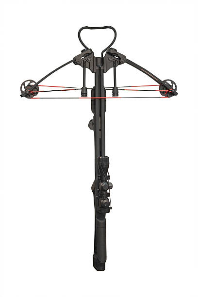 crossbow isolated - crossbow stock pictures, royalty-free photos & images