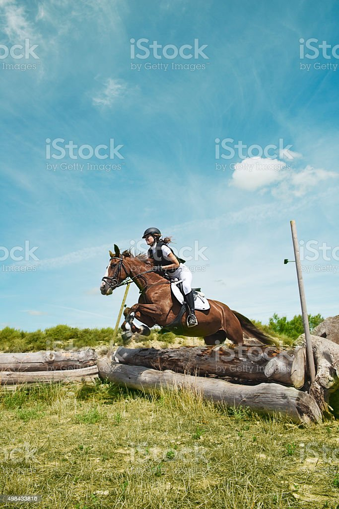 Cross-country stock photo