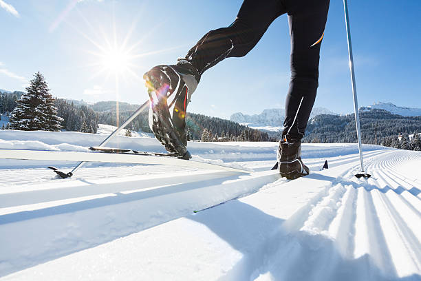Skilanglauf in Alpen – Foto