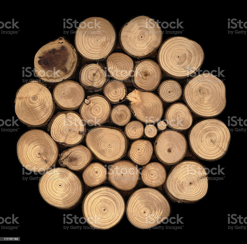 Crosscut Wood royalty-free stock photo