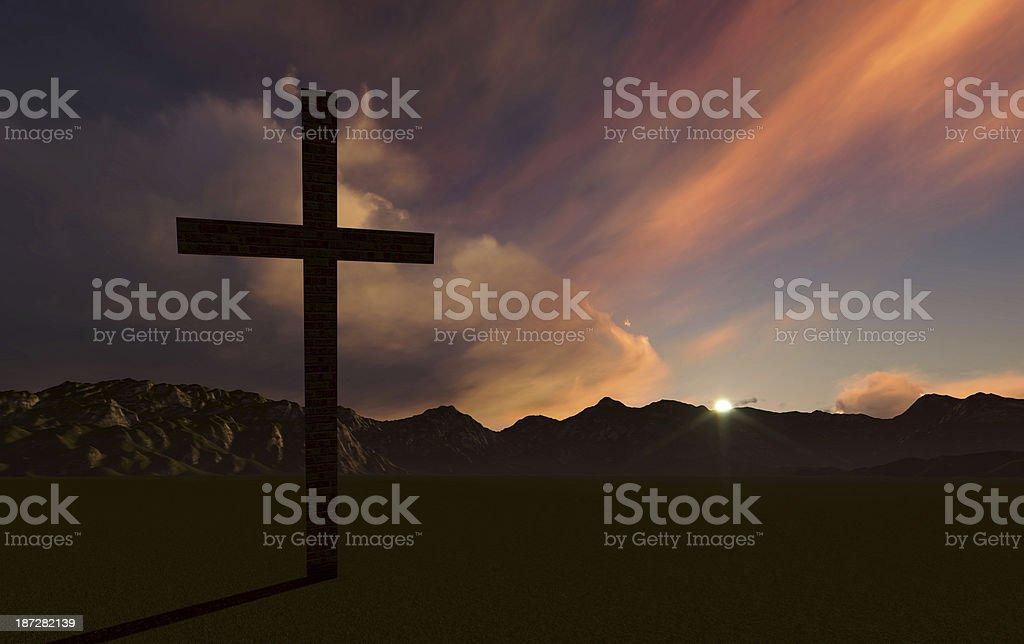 Crosse at Sunset stock photo