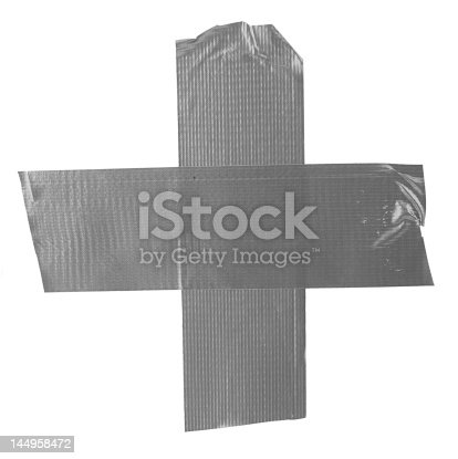 805500886 istock photo crossed duct tape pieces on white 144958472