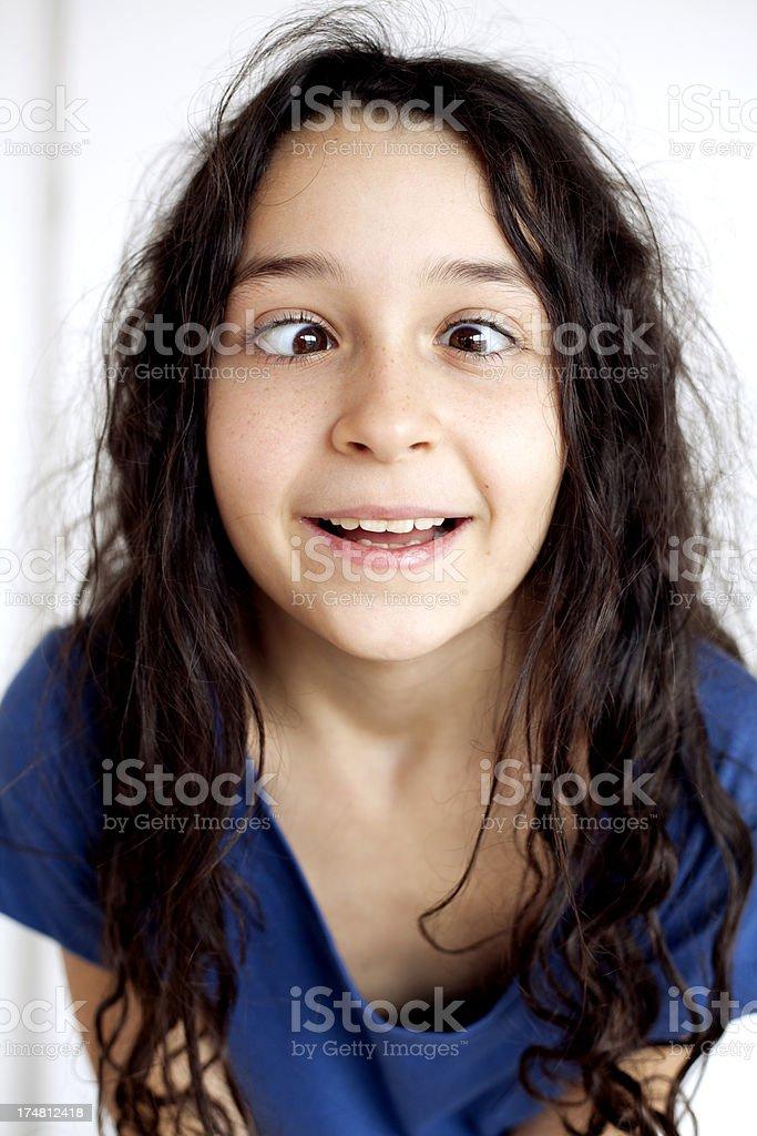 crossed eyed stock photo