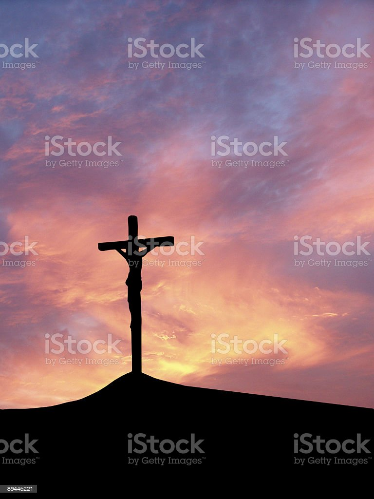 Crossed Jesus royalty-free stock photo