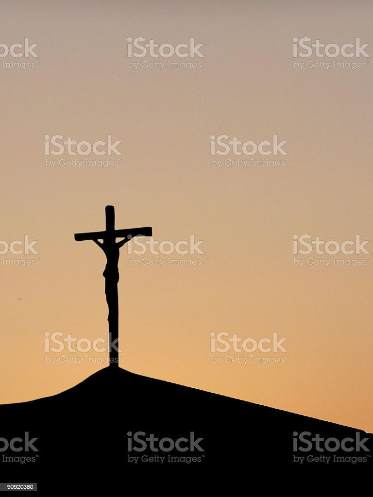 Crossed Jesus royalty-free stock photo