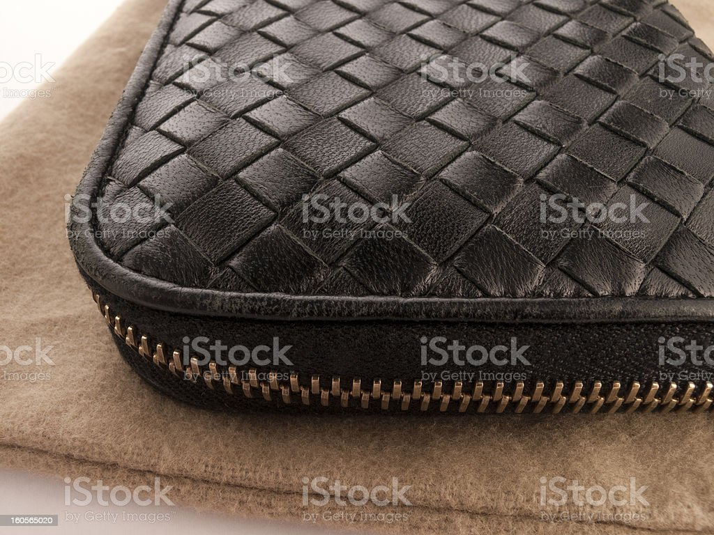 Crossed Leather Wallet royalty-free stock photo
