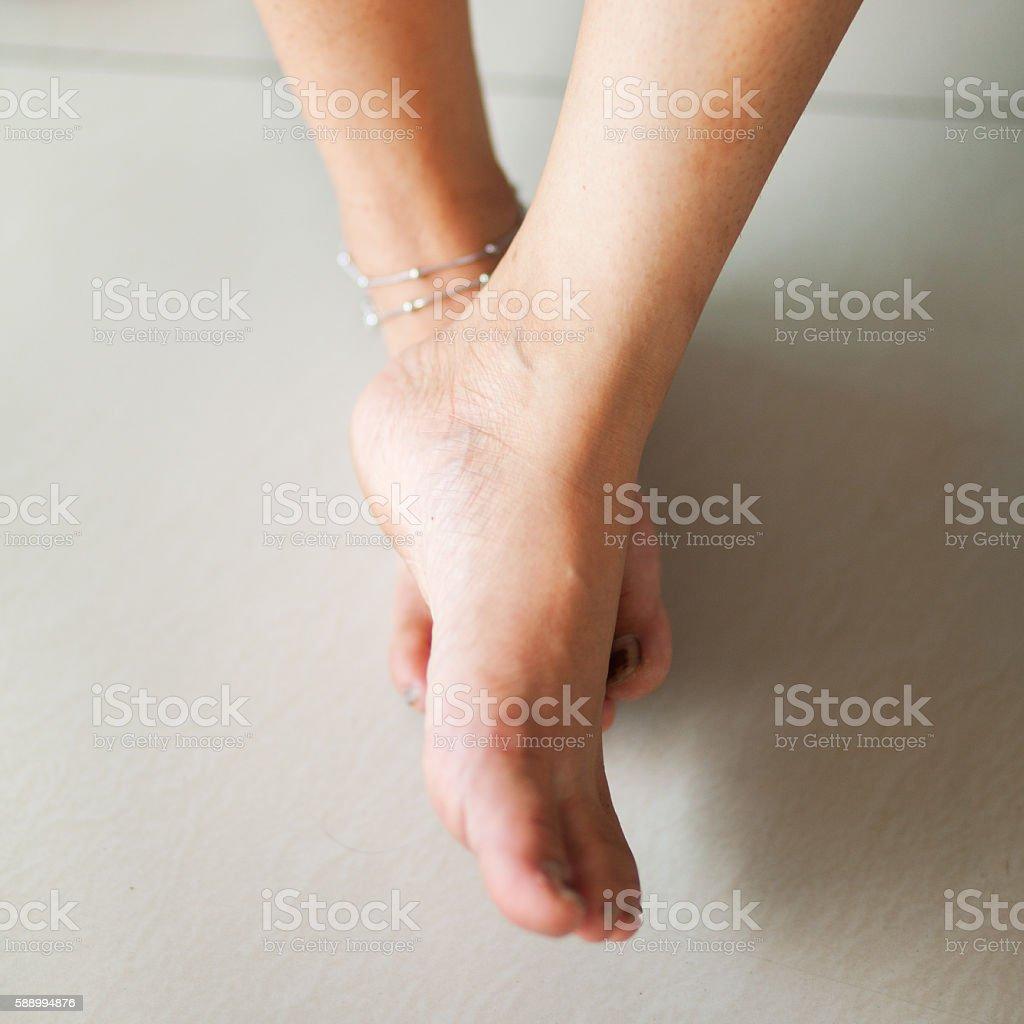 crossed short feet of thai transgender stock photo & more pictures