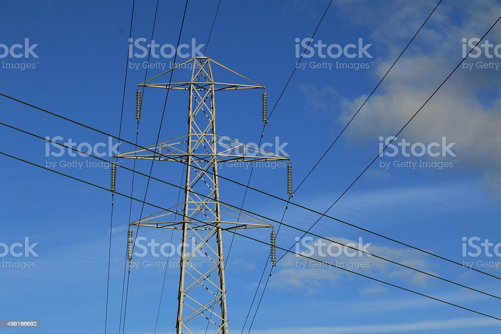 Crossed wires stock photo