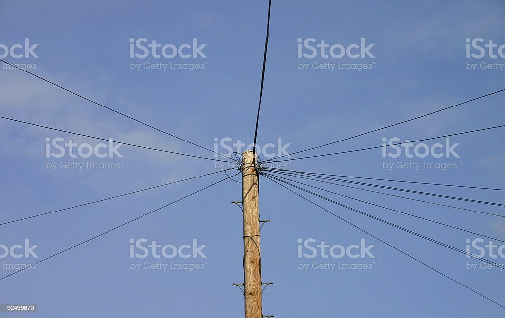 Crossed Wires royalty-free stock photo
