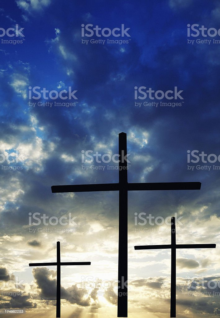 Crosses at Sunrise. royalty-free stock photo