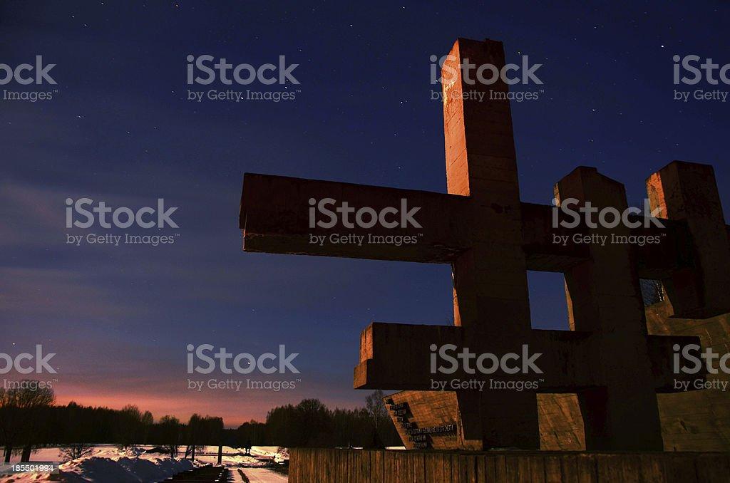 Crosses Khatyn. stock photo