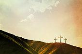 istock Crosses on Hillside 539294885