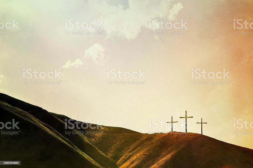 Croix sur la colline - Photo