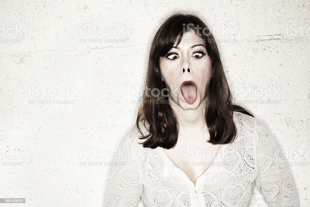 Cross-Eyed and Flat-Tongued royalty-free stock photo