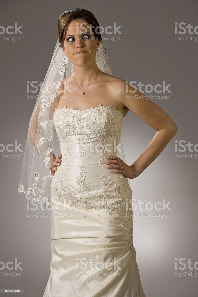 Cross-eyed Bridal royalty-free stock photo
