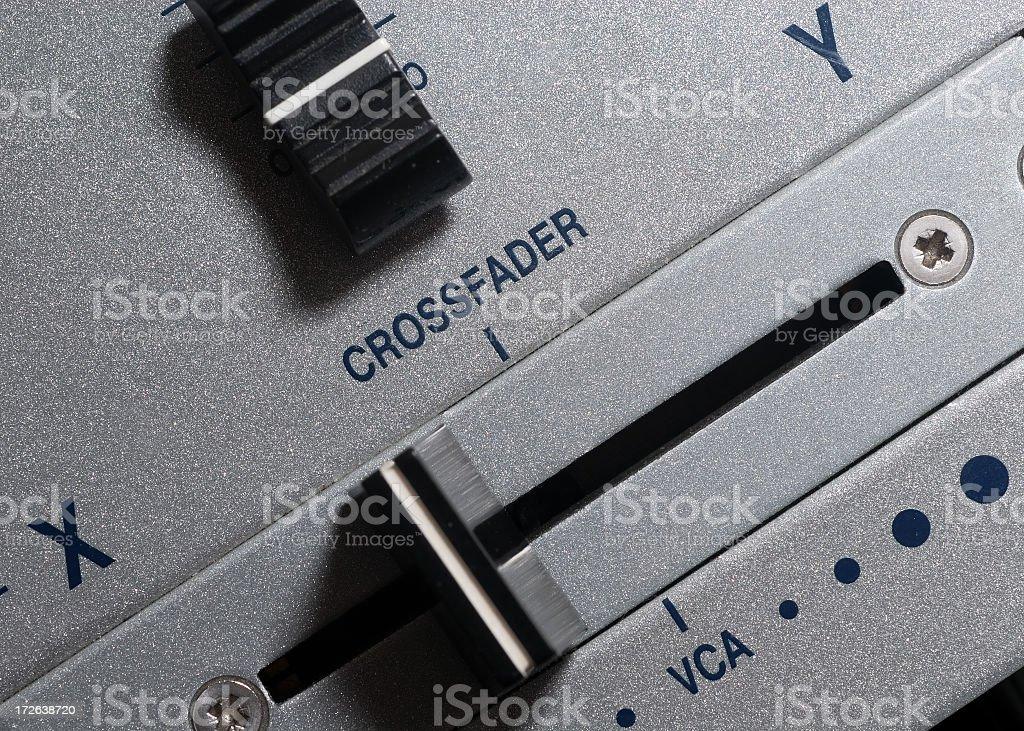 Crossfader royalty-free stock photo