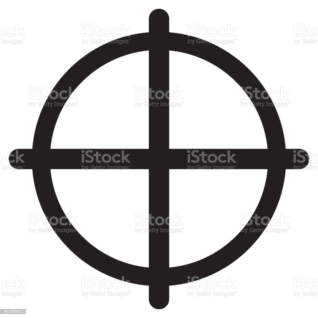 Crosshair Icon stock photo