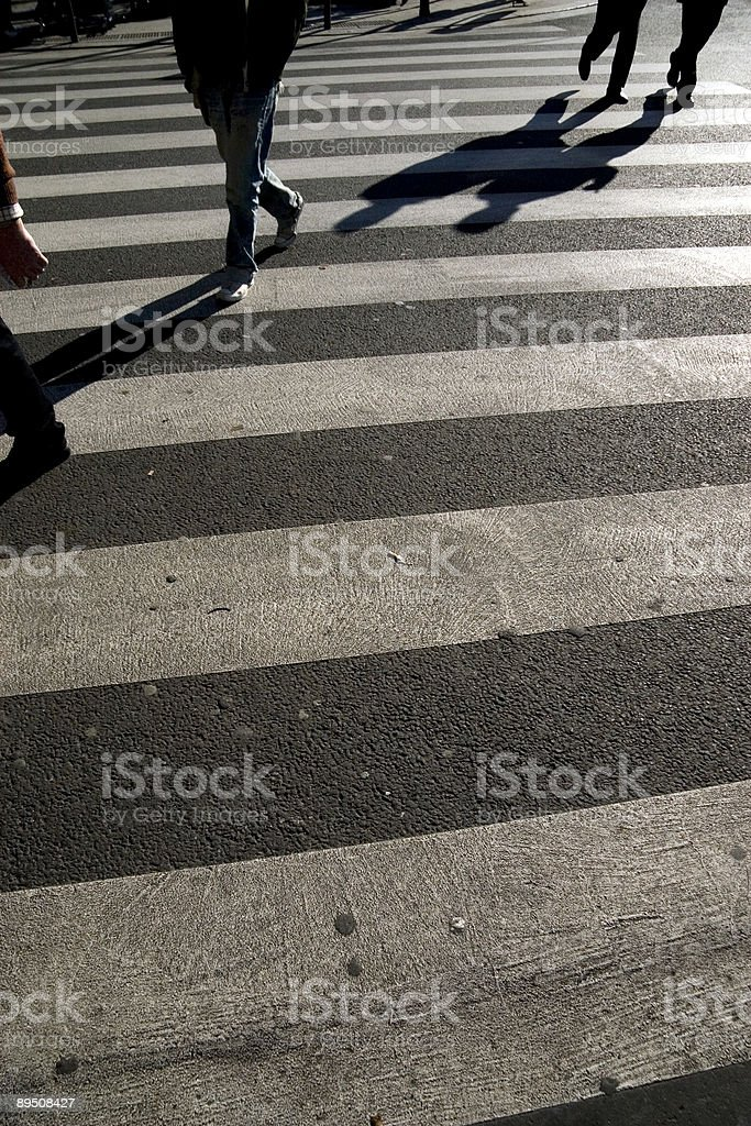 crossing and shadows royalty-free stock photo