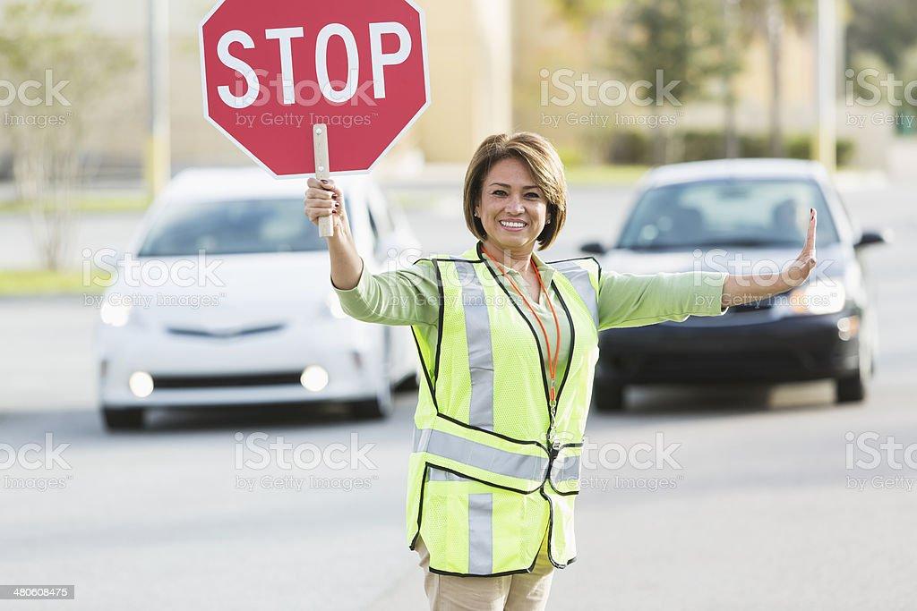 Crossing guard stock photo