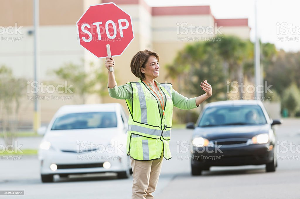 Crossing guard stock photo