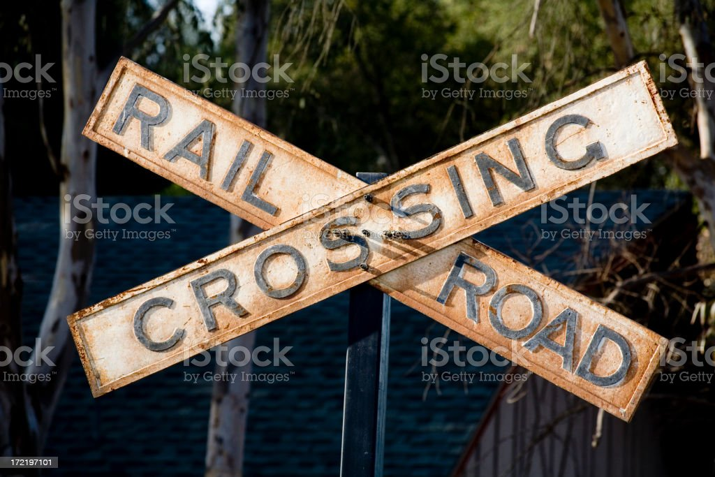 RR crossing royalty-free stock photo