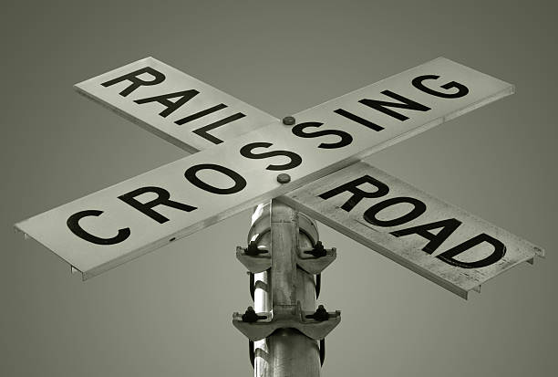 Crossing Railroad stock photo