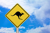 Crossing sign - Kangaroo