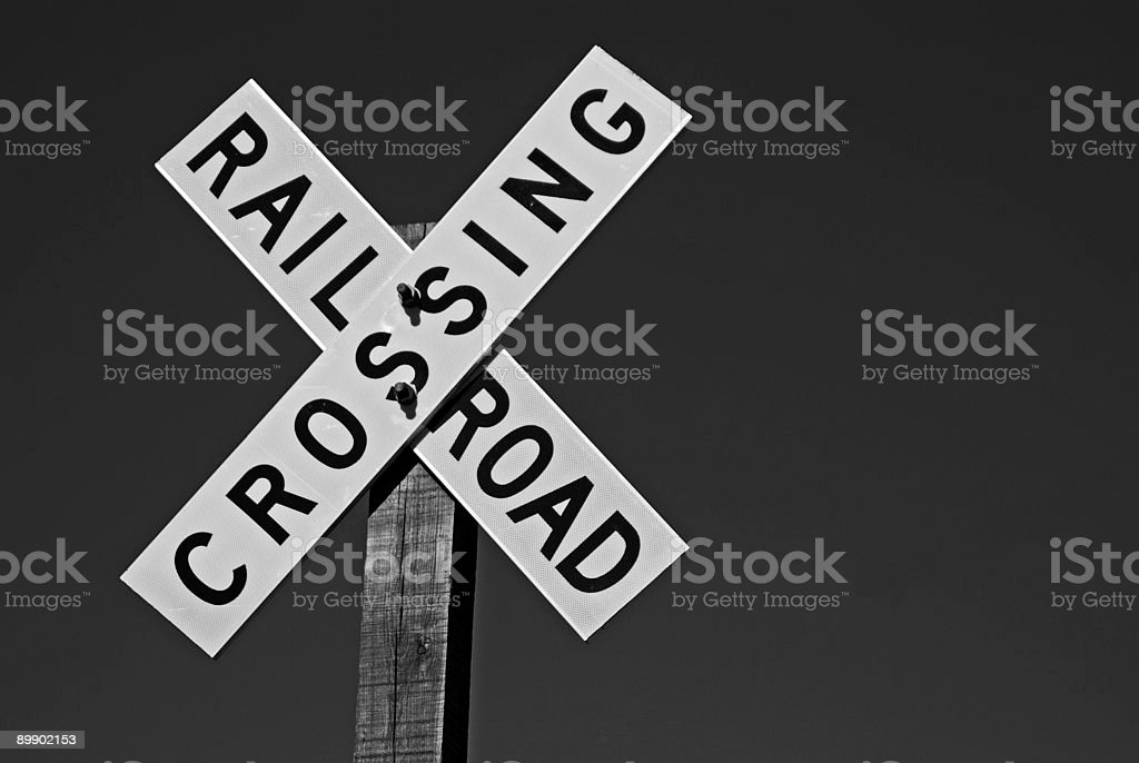 Crossing Sign royalty-free stock photo