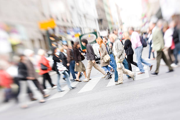 crossing street - yt stock pictures, royalty-free photos & images
