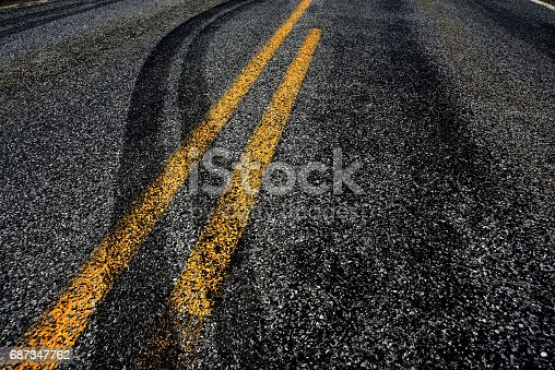 istock Crossing the Double Yellow!! 687347762