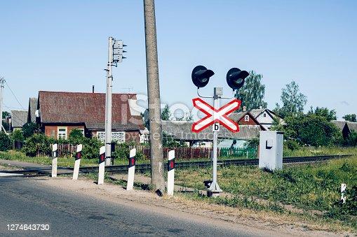 istock Crossing the railway near the house 1274643730