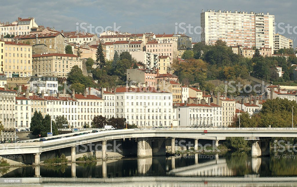 Crossing the Rhone royalty-free stock photo