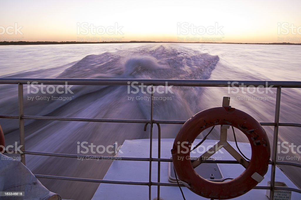 Crossing the Rio de la Plata. royalty-free stock photo