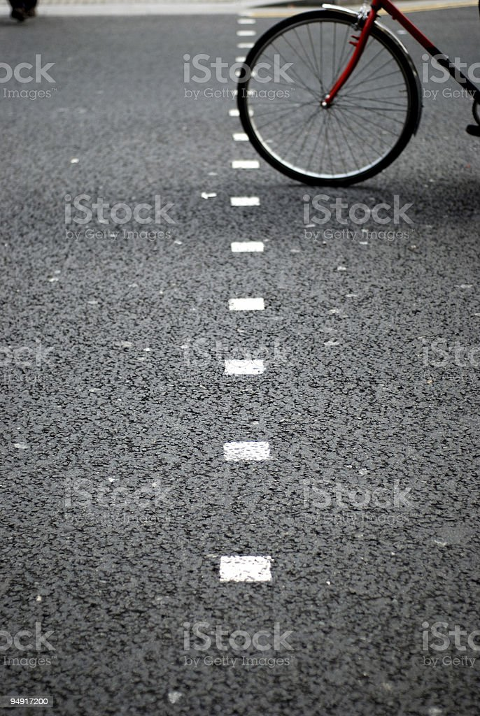 Crossing the road stock photo