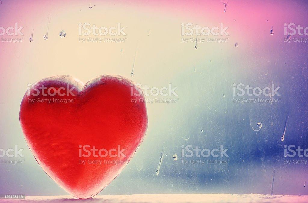 Cross-Process Winter Heart royalty-free stock photo