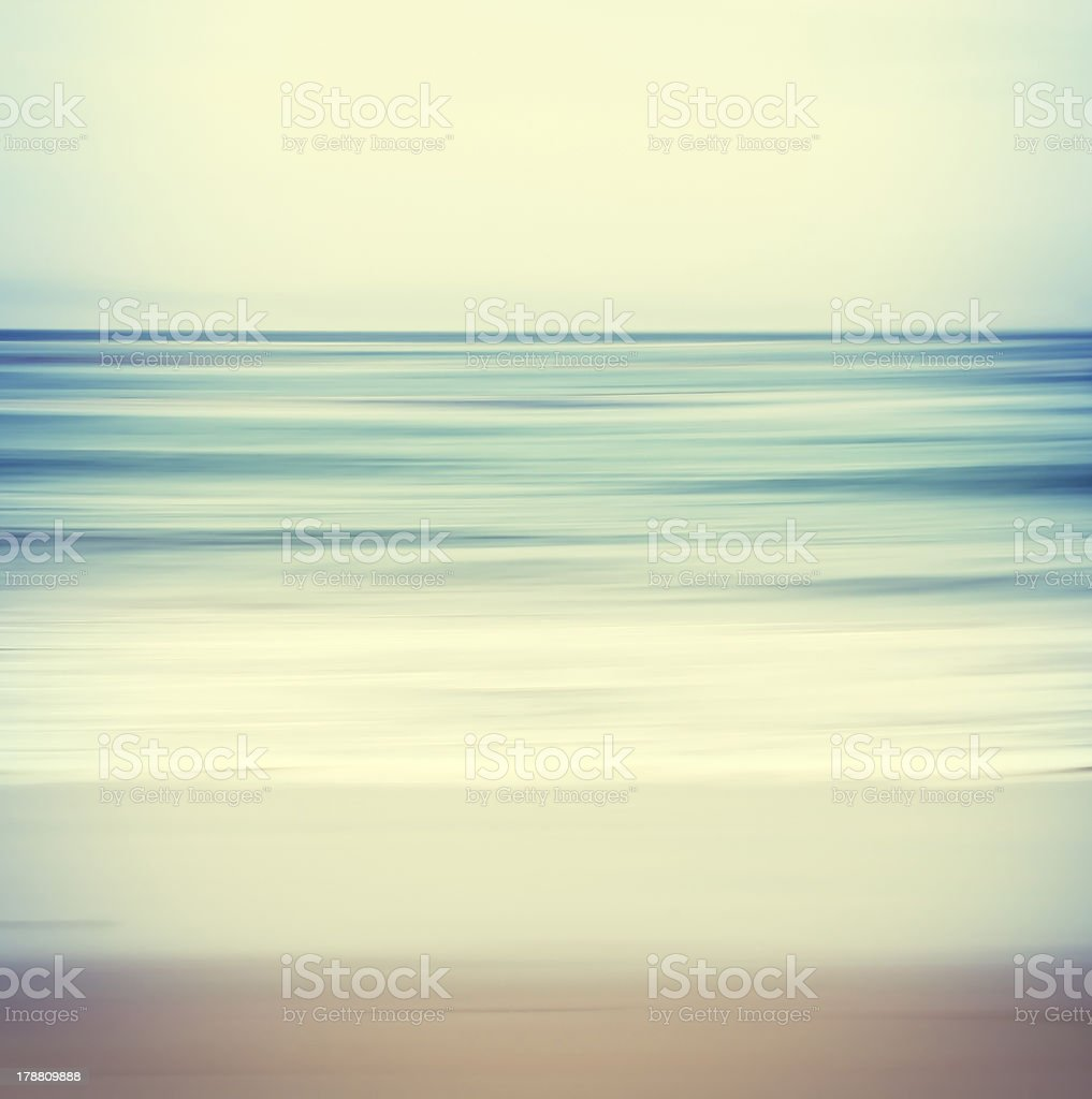 Cross-processed Seascape stock photo