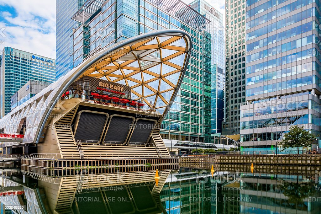 Crossrail Place in Canary Wharf stock photo
