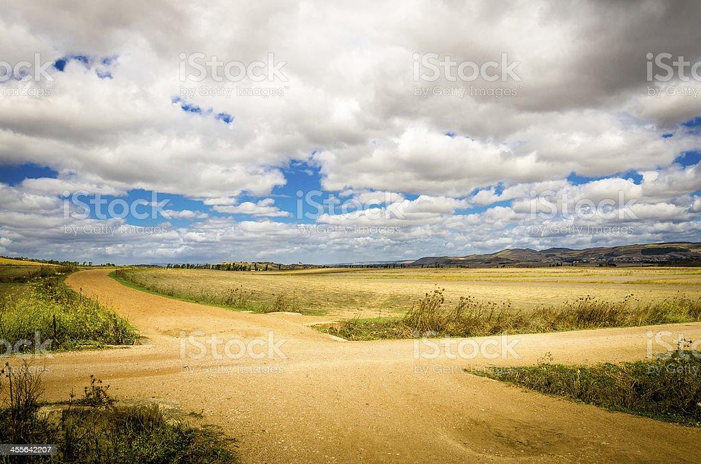 Crossroad stock photo