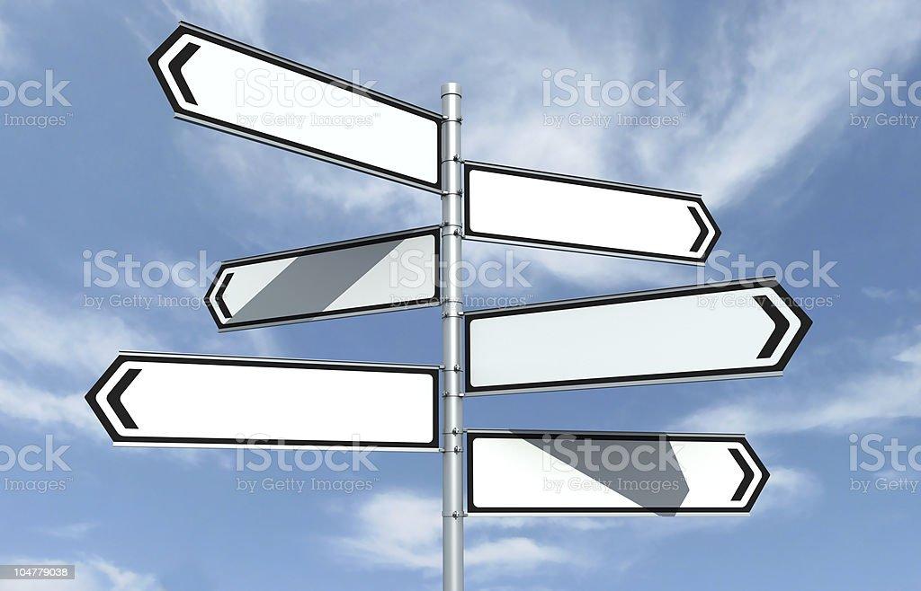 Crossroad Signpost stock photo
