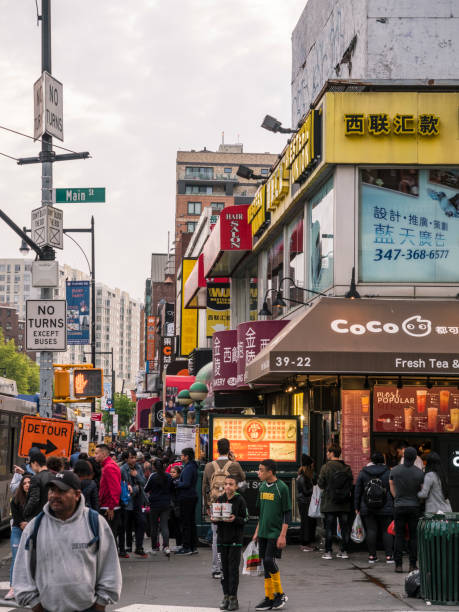Crossroads In Flushing, Queens, New York City – Foto