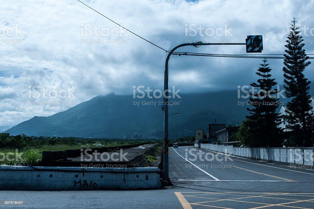 Crossroads in Hualien stock photo
