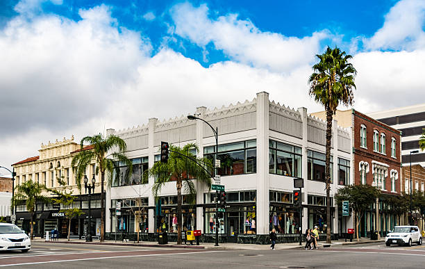 Crossroads in Pasadena, Los Angeles, California stock photo