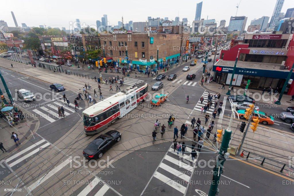 Kreuzung in der Stadt von Toronto, Kanada Lizenzfreies stock-foto