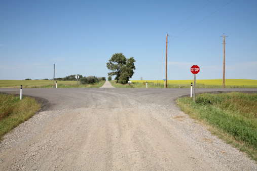 Cross-Roads In The Country